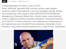 Kamil Bazelak patronem X Kampanii Białych Serc w Mławie