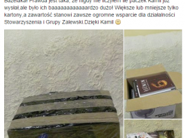 charytatywna paczka od Kamila Bazelaka